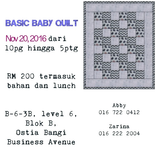 basic baby quilt workshop